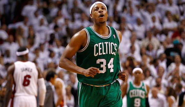 Platz 30: Paul Pierce - 51,2 Prozent in 170 Spielen (Boston Celtics, Brooklyn Nets, Washington Wizards, Los Angeles Clippers)