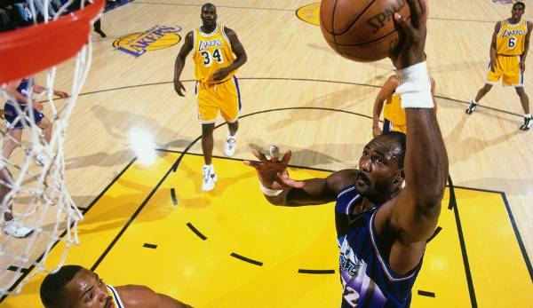 Platz 32: Karl Malone - 50,8 Prozent in 193 Spielen (Utah Jazz, Los Angeles Lakers)