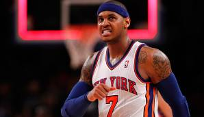 Madison Square Garden, New York: 62 Punkte von Carmelo Anthony am 24.01.2014.