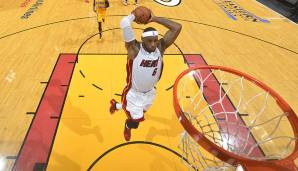 American Airlines Arena, Miami: 61 Punkte von LeBron James am 03.03.2014.