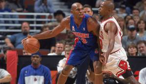 United Center, Chicago: 57 Punkte von Jerry Stackhouse am 04.04.2001.
