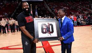 Toyota Center, Houston: 60 Punkte von James Harden am 30.01.2018.