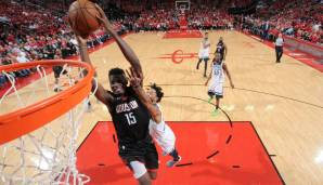 Platz 8: Clint Capela (Houston Rockets): 79 Punkte, 71 Rebounds, 7 Assists - 184 Dunkest-Punkte (5 Spiele)