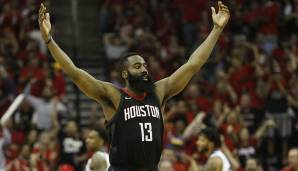 Platz 9: James Harden (Houston Rockets): 145 Punkte, 24 Rebounds, 37 Assists - 179,25 Dunkest-Punkte (5 Spiele).