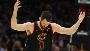 Platz 11: Kevin Love (Cleveland Cavaliers): 237 Punkte, 170 Rebounds, 27 Assists - 352,25 Dunkest-Punkte (13 Spiele).