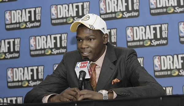 Kevin Durant, 2007, Seattle Supersonics (5,30 % Chance auf 2nd Pick).
