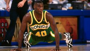 Platz 24: Shawn Kemp (1989-2003) - Teams: Sonics, Cavs, Blazers, Magic - Finals-Teilnahmen: 1 (1996)