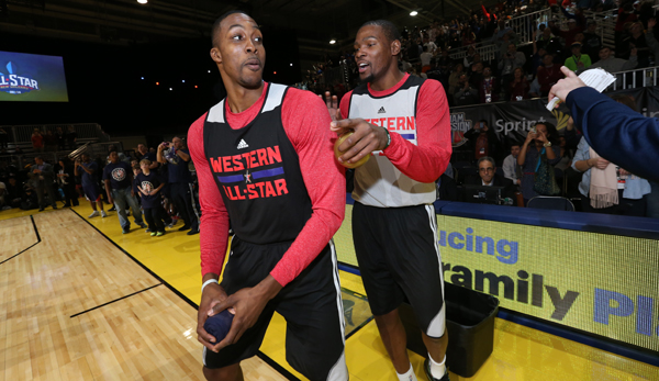 Lang ist's her: Dwight Howard und Kevin Durant beim All-Star Game 2014.