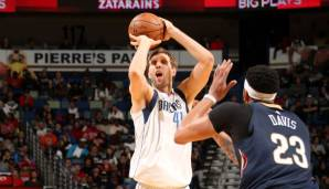 Dallas Mavericks: 22 Dreier gegen New Orleans am 29.12.2017.
