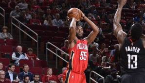 New Orleans Pelicans: 18 Dreier gegen Houston am 11.12.2017.