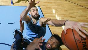 DEFENSIVE PLAYER OF THE YEAR: Platz 3: Marc Gasol (Memphis Grizzlies) - 16 Prozent der Stimmen.