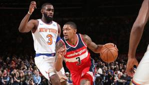 Platz 10: 27 Punkte – New York Knicks vs. Washington Wizards 113:118 in der Saison 2017/18.