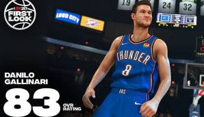 Danilo Gallinari (Oklahoma City Thunder): 83