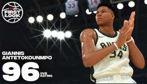 Platz 3: Giannis Antetokounmpo (Milwaukee Bucks): 96