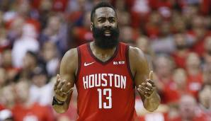 Platz 3: James Harden (Houston Rockets): 96