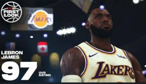 Platz 1: LeBron James (Los Angeles Lakers): 97