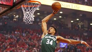 Giannis Antetokounmpo - 3x All-Star, 3x All-NBA - Stats von 2009/10 bis 2018/19: 18,8 Punkte, 8,3 Rebounds, 4,1 Assists