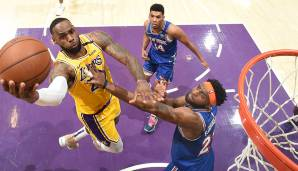 Platz 1: LeBron James (Los Angeles Lakers) - 3.359.871 Stimmen.