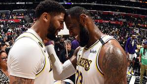 PLATZ 3: Los Angeles Lakers (Bilanz: 52-19, Platz 1 in der Western Conference) - Wettquote: +350 (Quote vor dem Restart: +200)