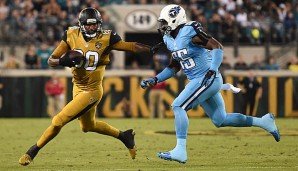 Tight End Julius Thomas (l.) gelang der Game-Winning-Touchdown gegen die Titans