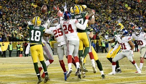 Aaron Rodgers gelang auch in diesen Playoffs ein Hail-Mary-Touchdown!