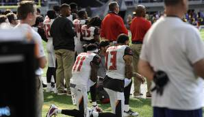 Das Buccaneers-Superstar-Receiver-Duo DeSean Jackson und Mike Evans beim Protest