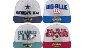 NFC EAST: Dallas Cowboys, New York Giants, Philadelphia Eagles, Washington Redskins.