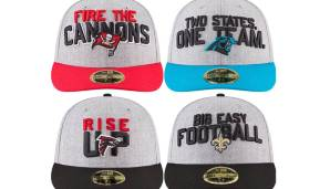 NFC SOUTH: Tampa Bay Buccaneers, Carolina Panthers, Atlanta Falcons, New Orleans Saints.