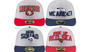 NFC WEST: San Francisco 49ers, Seattle Seahawks, Los Angeles Rams, Arizona Cardinals.