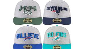 AFC EAST: New York Jets, New England Patriots, Buffalo Bills, Miami Dolphins.