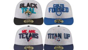 AFC SOUTH: Jacksonville Jaguars, Indianapolis Colts, Houston Texans, Tennessee Titans.