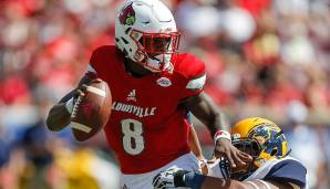 8. Lamar Jackson, Louisville: 430 Pässe, 3.660 Yards (8,5 Yards/Pass), 59,1% angekommene Pässe, 27 Touchdowns, 10 Interceptions.