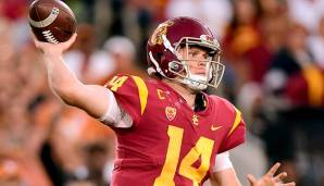 5. Sam Darnold, USC: 480 Pässe, 4.143 Yards (8,6 Yards/Pass), 63,1% angekommene Pässe, 26 Touchdowns, 13 Interceptions.