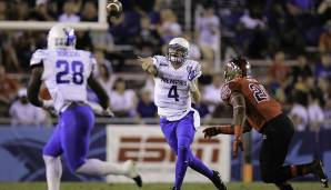3. Riley Ferguson, Memphis: 474 Pässe, 4.257 Yards (9 Yards/Pass), 63,1% angekommene Pässe, 38 Touchdowns, 9 Interceptions.