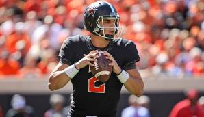 1. Mason Rudolph, Oklahoma State: 489 Pässe, 4.904 Yards (10 Yards/Pass), 65% angekommene Pässe, 37 Touchdowns, 9 Interceptions.