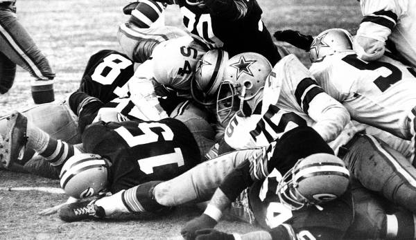 "1. ""The Ice Bowl"" : Green Bay Packers - Dallas Cowboys (21:17) am 31. Dezember 1967: -25 Grad Celsius."