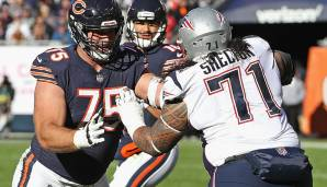 Danny Shelton, Nose Tackle. Alter: 25. NFL-Saisons absolviert: 4. Letztes Team: New England Patriots.