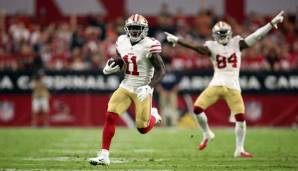 Marquise Goodwin (l.) hat die 40 Yards of Gold gewonnen.