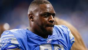 JOHN ATKINS - Defensive Tackle, Detroit Lions: Atkins hätte in Detroit um einen Backup-Spot an der defensiven Front gekämpft.