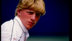 1985:  Boris Becker looks on. Mandatory Credit: T. G. Higgins  /Allsport