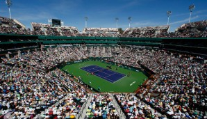 Der Centre Court in Indian Wells fasst 16.100 Zuschauer