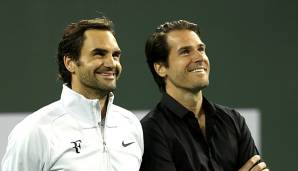 Roger Federer und Tommy Haas in Indian Wells 2018