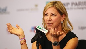 Chris Evert ist Teil der WTA Legends